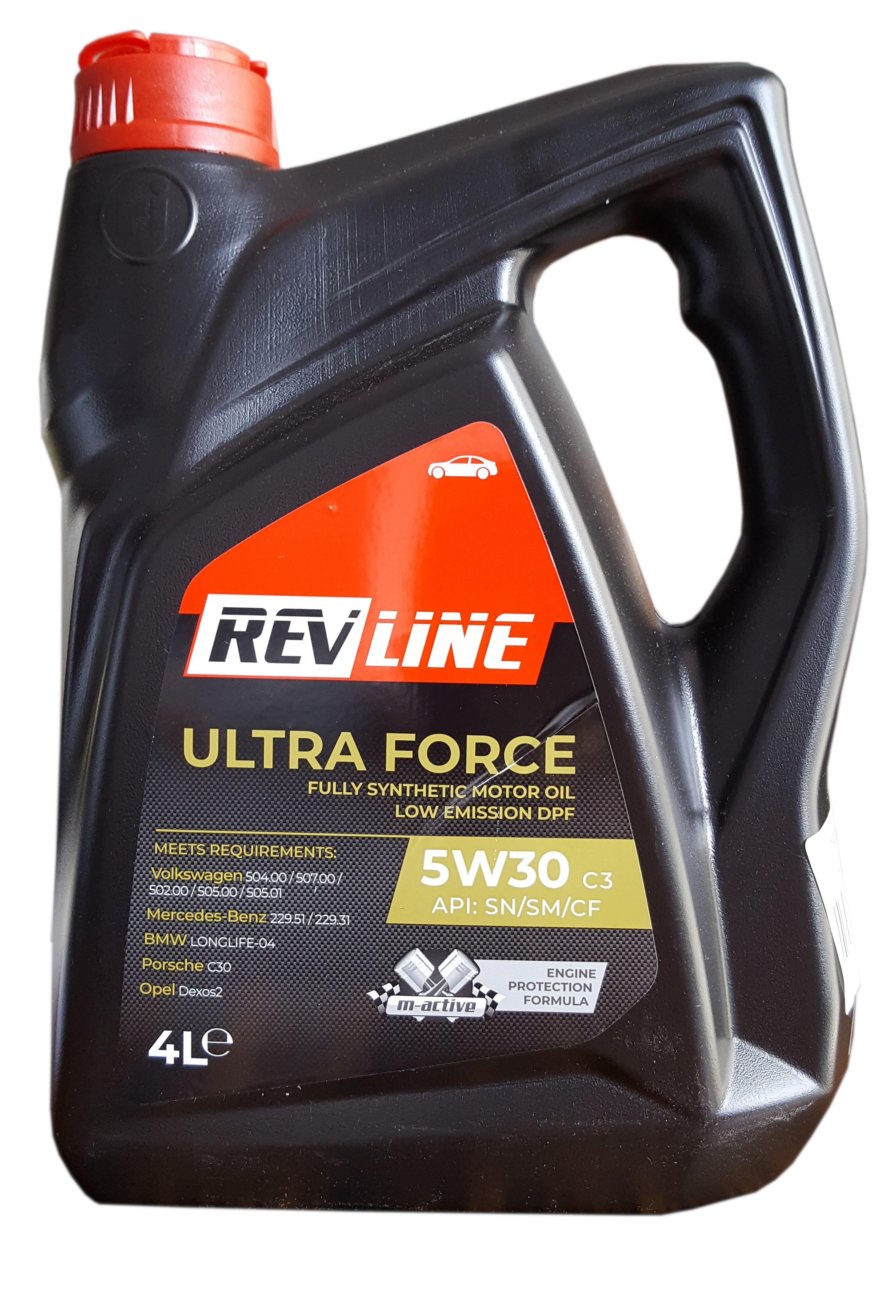 REVLINE ULTRA FORCE C3 5W/30  4 L REVLINE 5W30 C3 504 507 4-K/