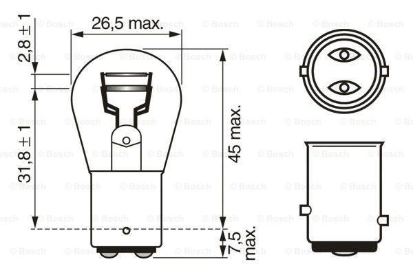 Żarówka lampy tylnej kierunkowskazów